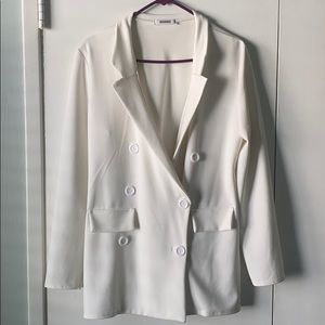 White Missguided blazer